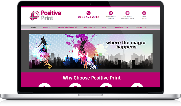 Positive Print website
