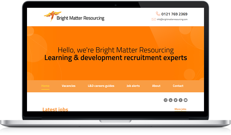 Bright Matter Resourcing website design