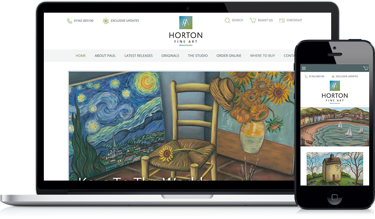 Paul Horton Ecommerce Website Design