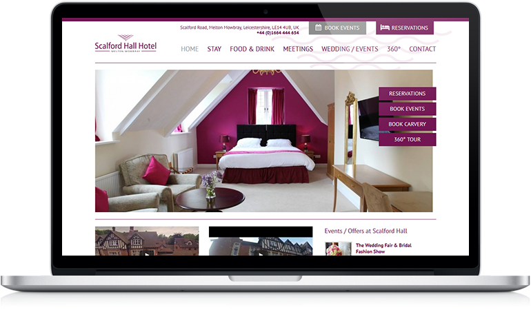 Scalford Hall Hotel Web Design
