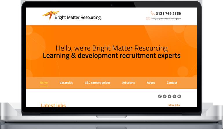 Bright Matter Resourcing website design
