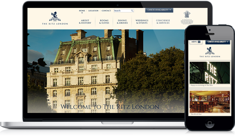 The Ritz London Website Design