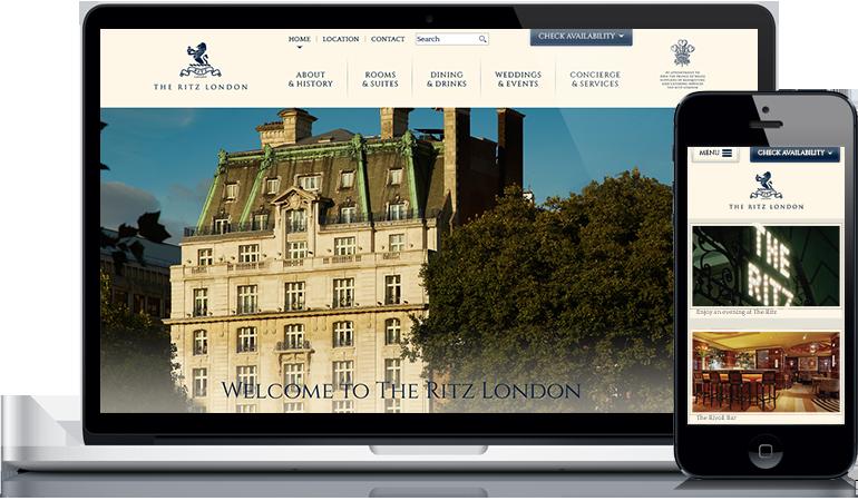 The Ritz London Website Design